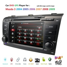 Remote control Car DVD player for Mazda 3 2004 2009 USB SD Bluetooth Steering Wheel Control Multimedia System DAB Free map card