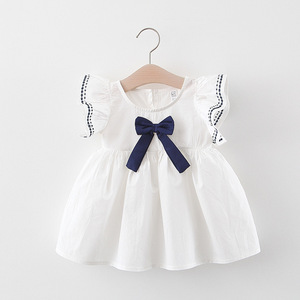 Little girl's summer baby dress clothes for little girl 1 year old baby girl party dress girl dress drink baby princess dress