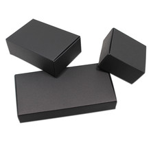50pcs Black/ White Cardboard Paper Gift Boxes for Wedding Birthday Favors Candy Crafts Wrapping Box Foldable Kraft Package Boxes(China)