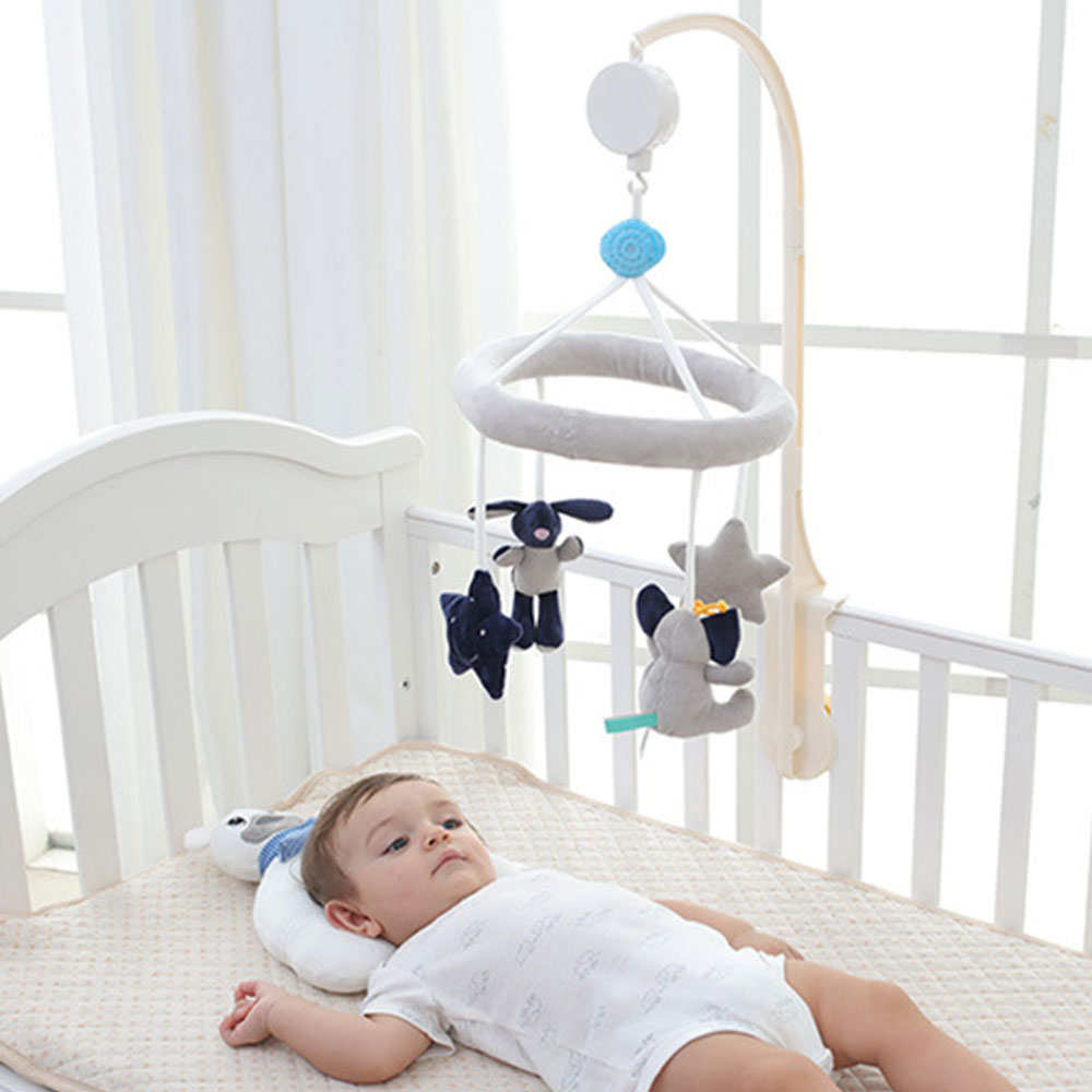 Newborns Crib Mobiles Rattles Cartoon Music Educational Toys Bed Bell Carousel 0-12 Months Infant Baby Toy