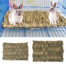 Lapin herbe feutre tapis petit Animal Hamster cochon d'inde Cage lit maison Pad livraison directe
