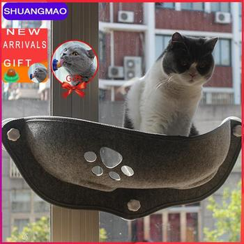 Hot Sale Pet Hammock Bearing 20kg Beds Cat Window Lounger Suction Hammock Pets Window Shelf Comfortable Cats Ferret Bed Products cat hammock bed detachable breathable cats products for pets top quality pet bed for cats cama para gato