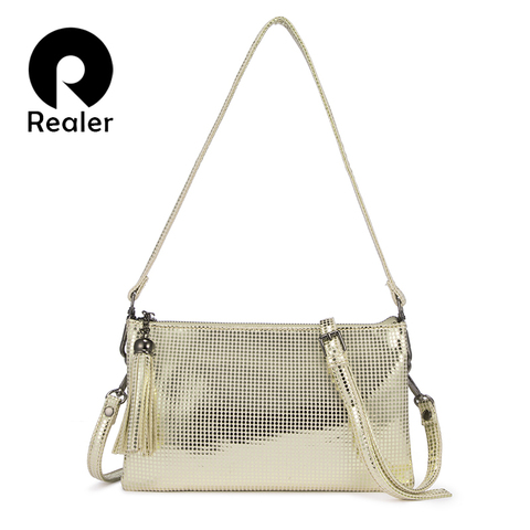 REALER Crossbody bags for women 2019 small shoulder bag female clutch evening messenger bag ladies purses and handbags tassel Pakistan