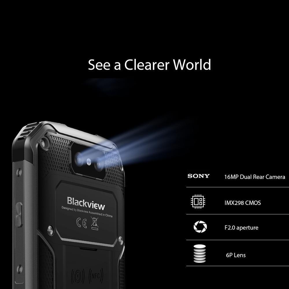 Blackview BV9500 Plus Smartphone 5.7 4 GB RAM 64GB ROM Android 9.0 IP68 étanche téléphone portable Helio P70 10000mAh téléphone portable - 4