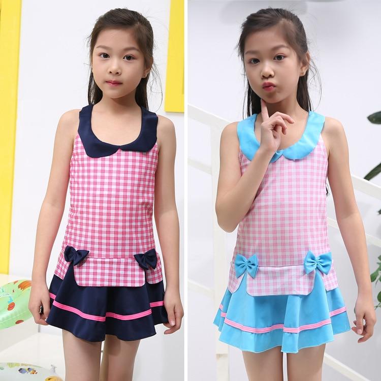 Hot Springs KID'S Swimwear Girls Korean-style Dress-Big Boy Tour Bathing Suit Princess Students South Korea GIRL'S Swimwear