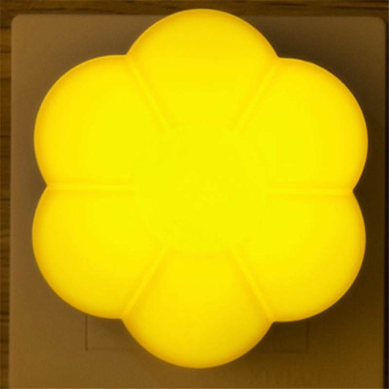 220V LED Light Sensor AUTO Control Lamp Floral Mini Night Lights EU US Plug Energy Save Cocina Wall Lights Led Lamp Luminaria