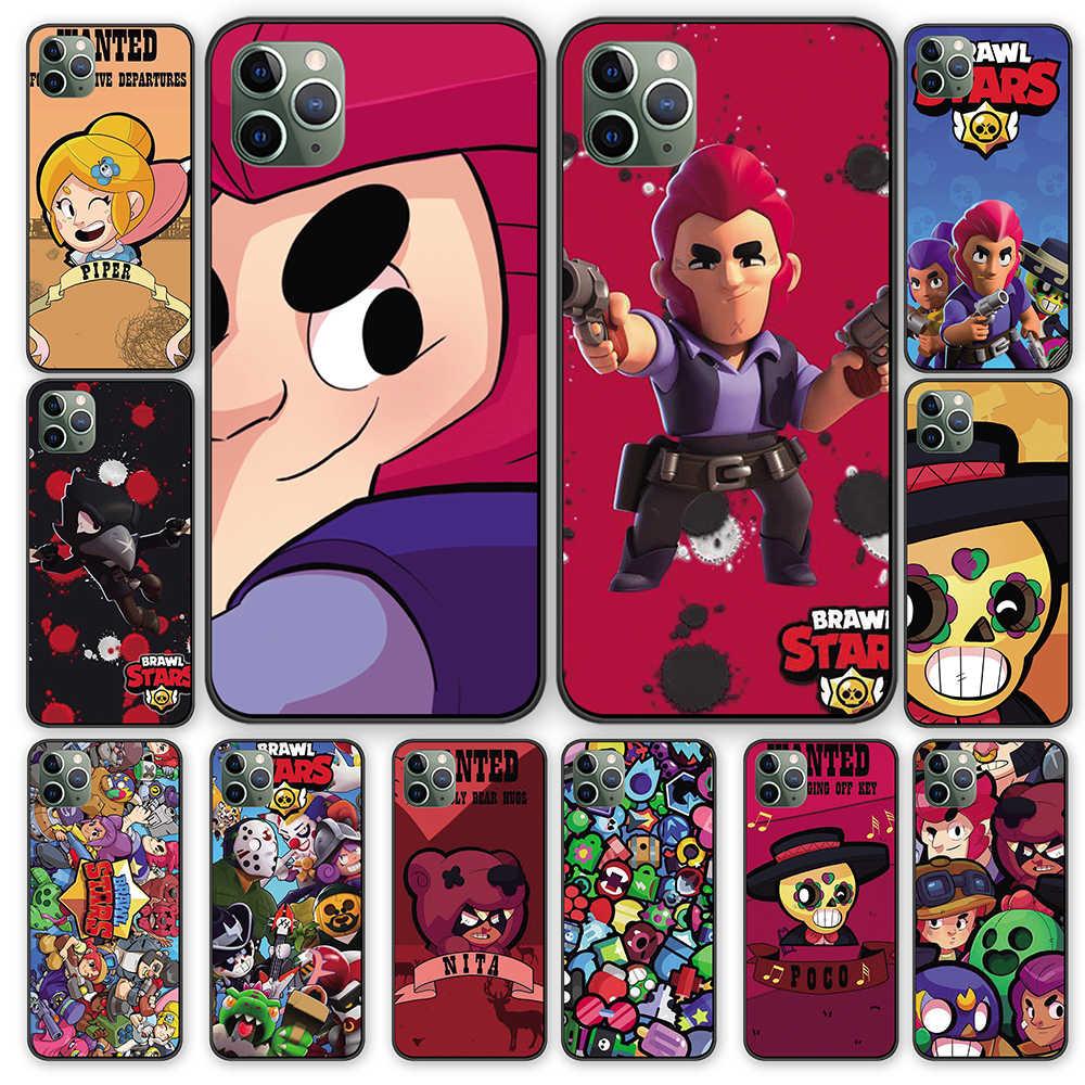 Karikatür Yıldız Siyah Tpu Kılıf Kapak Iphone 5 5s 6 6s 7 8 Artı X Xs Xr 11 Pro Max Yarım Sarılmış Kılıf Aliexpress