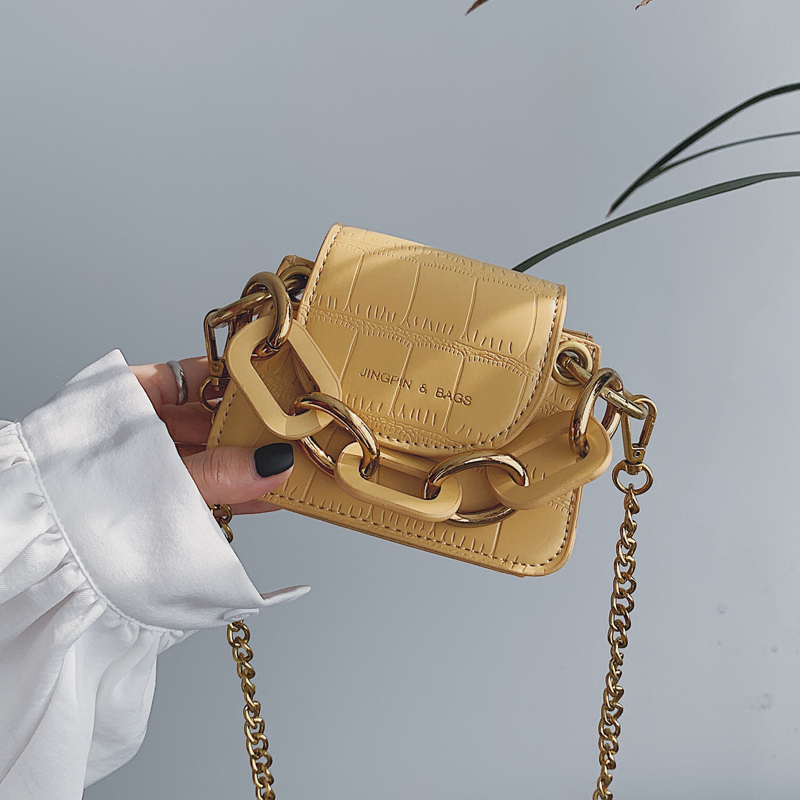 Elegant Female Stone Pattern Mini Tote Bag 2019 New Quality PU Leather Women's Designer Handbag Chain Shoulder Messenger Bag