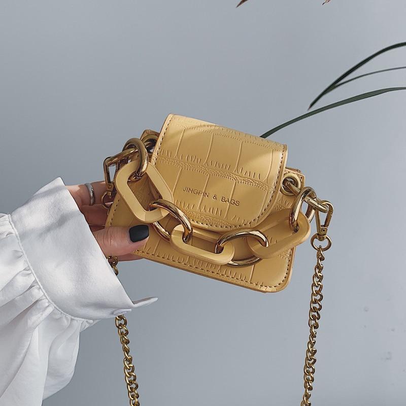 Elegant Female Stone Pattern Mini Tote Bag 2019 New Quality PU Leather Women's Designer Handbag Chain Shoulder Messenger Bag