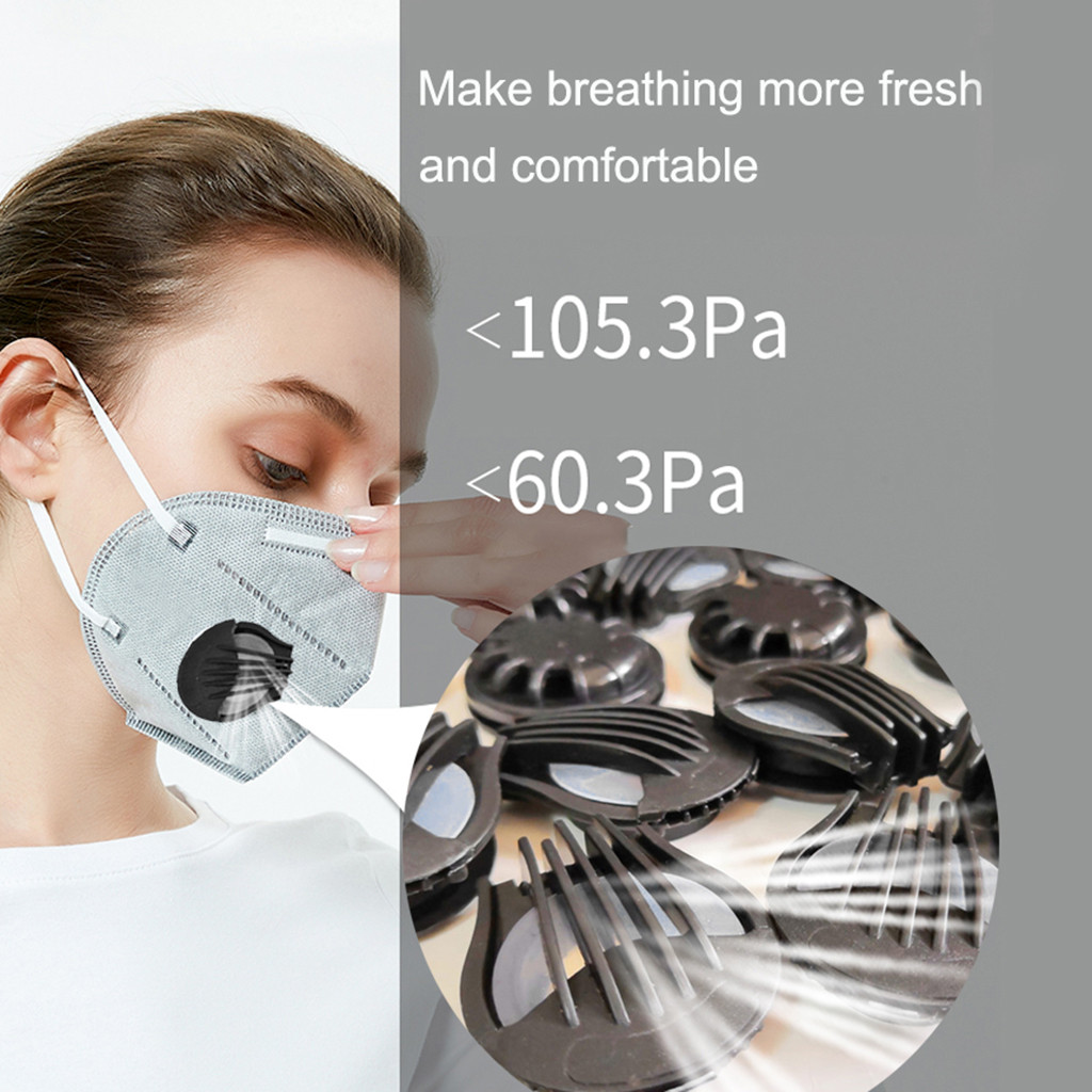100pc Outdoor Anti-dust Face Mouth Filter Air Breathing Valves Replacements Anti Haze Air Breathing Valves Accessories 2020