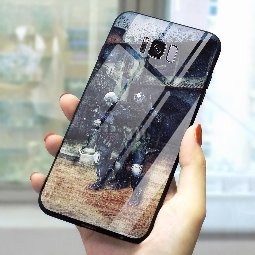 Ultra Thin CS GO Tempered Glass Phone Case for Samsung Galaxy A70 Cover A60 M40 A50 A40 A20 A30 A10 S7 Edge S8 S9 Plus S10 image