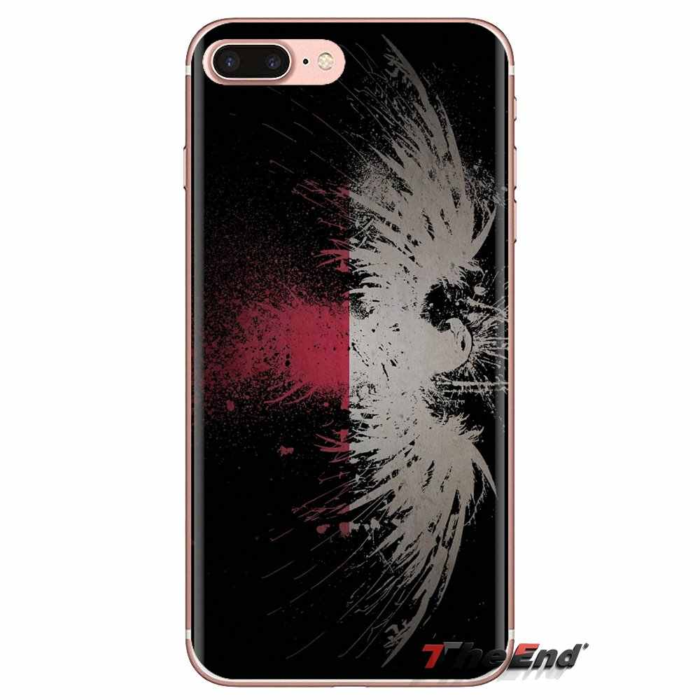 Para iPhone 5 XS Max XR X 4 4S 5S 5C SE 6 6S 7 8 Plus Samsung Galaxy j1 J3 J5 J7 A3 A5 PL Retro Polônia Bandeira Nacional Telefone Covers