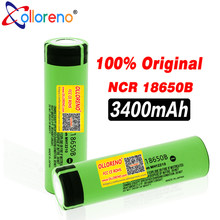 100% New 18650 Battery 3400mah 3.7v lithium Battery for NCR18650B 3400mah Suitable for flashlight Battery