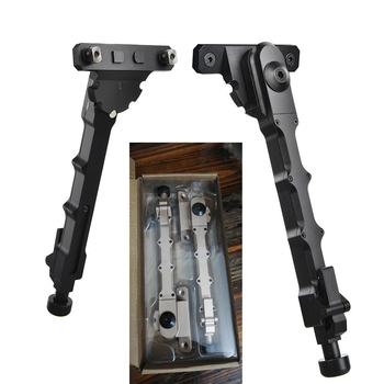 Xhunter Rifle Adjustable V9 Bipod Side Mount Folding Legs 6'' - 8'' For M-lok Rail Pivot Stand Tactical Hunting Gun Accessories недорого