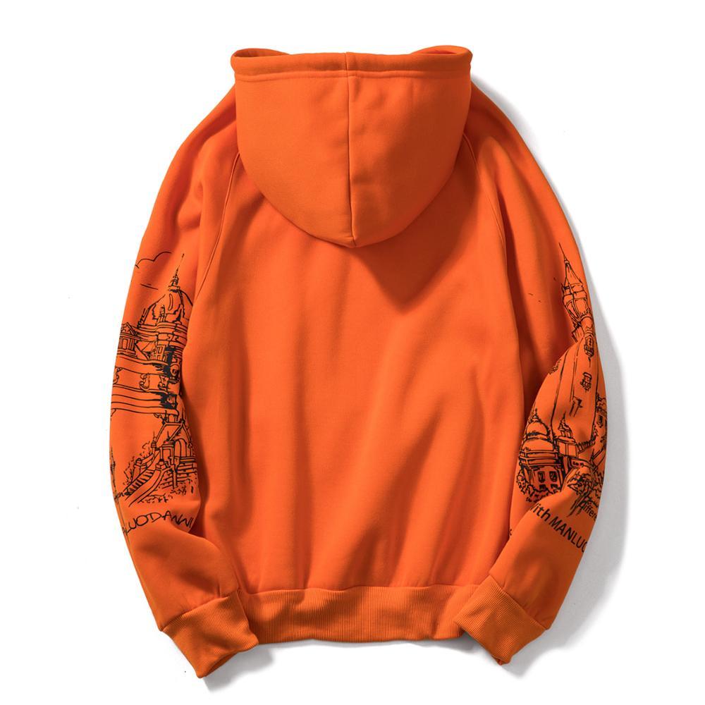 FGKKS Print Men's Hoodies Sweatshirts Autumn Men Hip Hop Fashion Casual Male Hoodies Sweatshirts EU Size 5