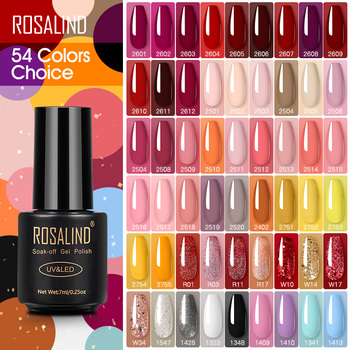 ROSALIND Nail Polish Red Nude Series Polish All For Manicure Nails Art Semi Permanent Gel UV LED Soff Off Hybrid Varnishes 1