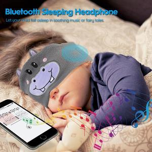 Image 3 - Kids Headphone Wireless Bluetooth 5.0 Earphone Sleeping Eye Mask Cartoon Soft Music Headset with Microphone for Children