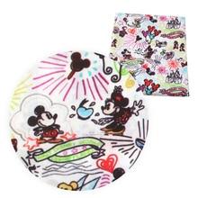 50*140 см мультяшная полиэфирная хлопковая ткань Лоскутная печатная ткань для детской ткани домашний текстиль для шитья стеганая ткань, c9561