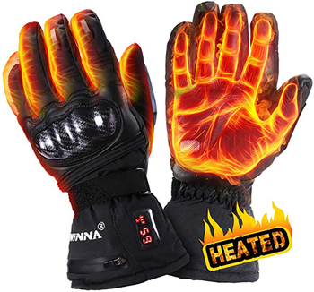 Waterproof Heated Gloves Battery Rechargeable 2200mAh Winter Warm Heating Gloves Hands Warmer For Motorcycle Hunting  Cycling electric thermal gloves winter usb hand warmer cycling motorcycle bicycle ski gloves rechargeable battery heated gloves