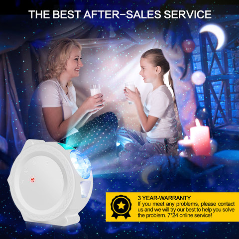 noturna planeta magia luz do projetor pode