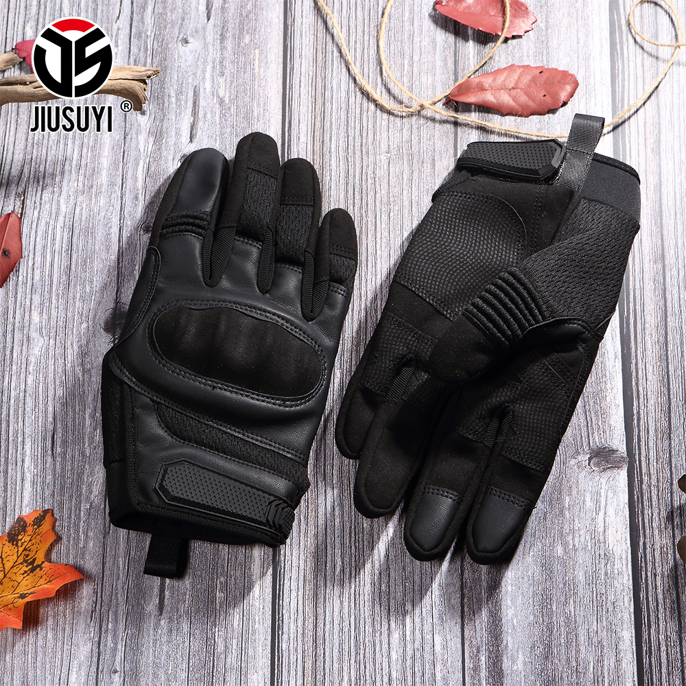 Image 5 - Tactical Military Full Finger Gloves Leather Airsoft Army Combat Touch Screen Anti Skid Hard Knuckle Protective Gear Gloves Men-in Men's Gloves from Apparel Accessories on AliExpress