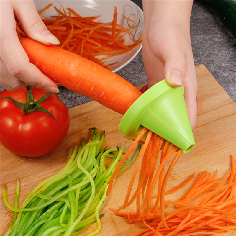 キッチンツール野菜果物多機能スパイラルシュレッダーピーラーマニュアルポテトニンジン大根回転シュレッダーおろし金