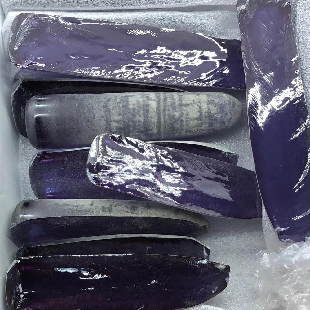 0.2kg /bag Laboratory Alexandrite material uncut Alexandrite Purple 45# corundum gemstone for jewelry making