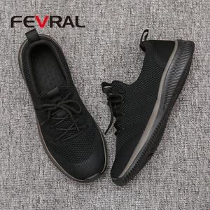 Image 4 - FEVRAL גברים נעליים יומיומיות מפורסם נוח סניקרס 2021 קיץ סתיו מאמני זכר לנשימה קל משקל נעלי גודל 39 44