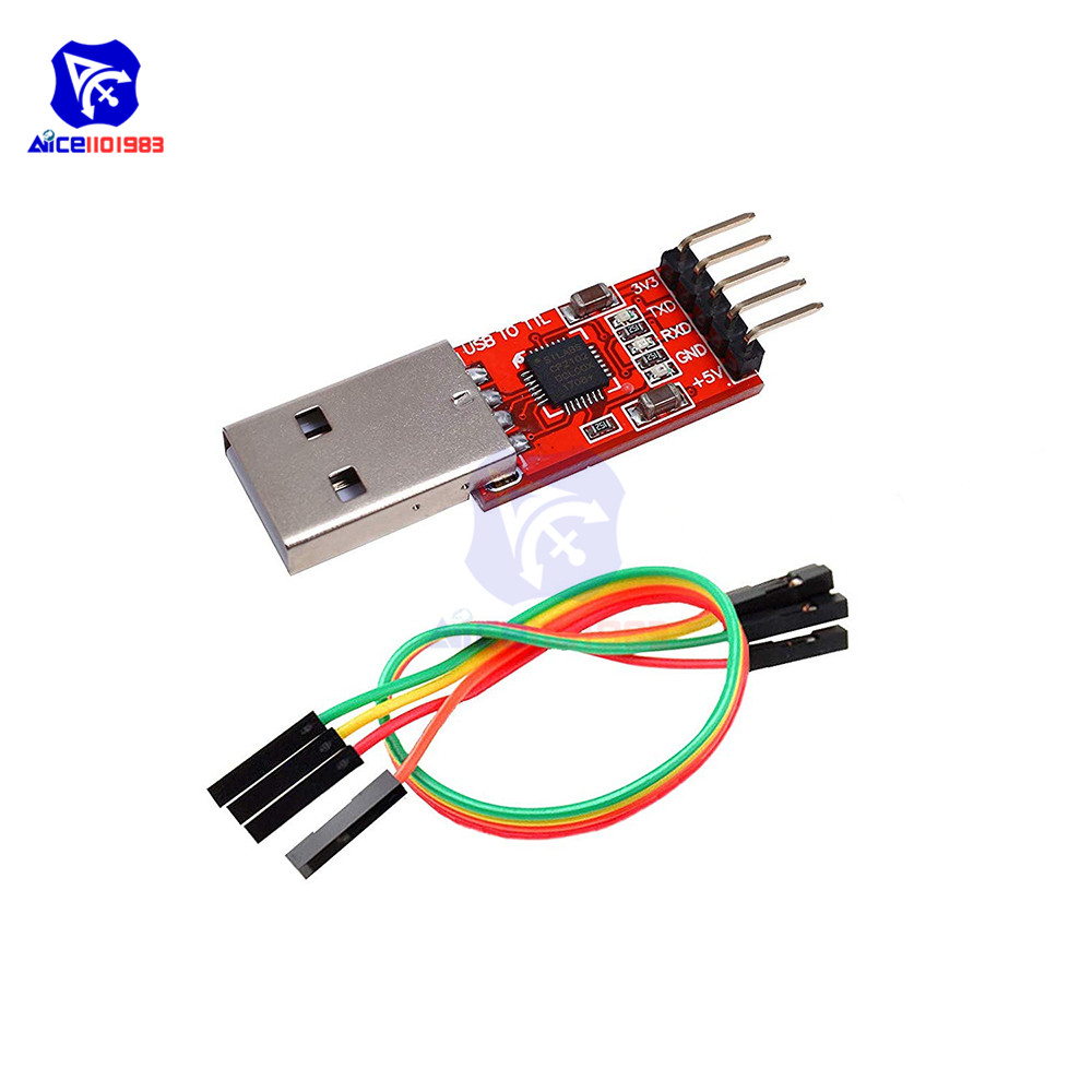 Diymore CP2102 USB To UART TTL Serial STC  Module PL2303 Super Brush Line For Arduino With 4 Pin Dupont Jumper Wire