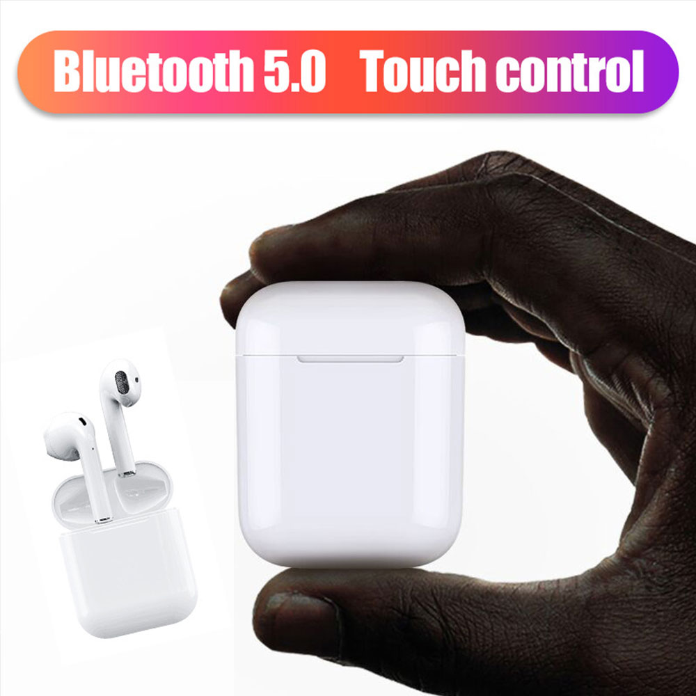 New i20 TWS Bluetooth Wireless Earphone Portable 5.0 ear Pop-up Headset Invisible Earbud for all smart phone PK