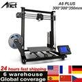 Модернизированный Настольный 3D-принтер Anet A8 Plus i3, наборы «сделай сам», самосборка, размер печати 300*300*350 мм, панель управления ЖК-дисплеем