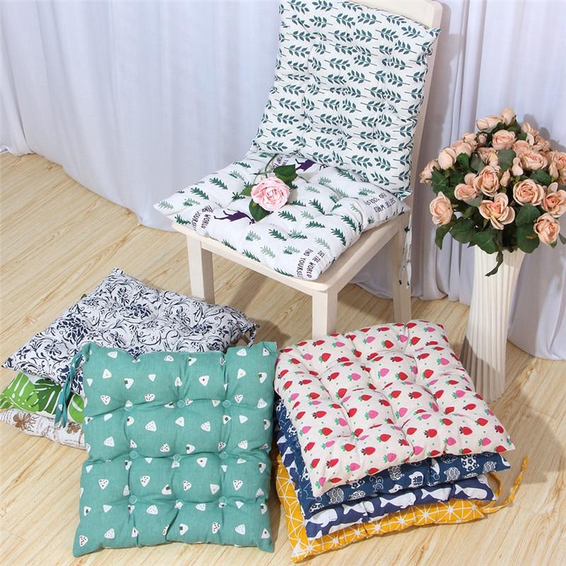 Cojín de asiento de algodón para oficina de 40x40cm, cojín suave y transpirable para silla de casa, adecuado para coche, Cocina, Restaurante, Bar, cojín para asiento