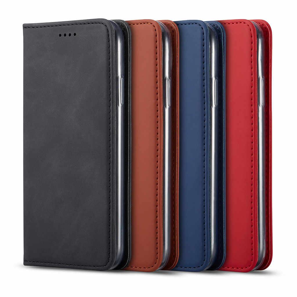 Mewah Kulit Phone Case untuk iPhone 11 Pro Max 6.5 Inch Dompet Kartu Slot Flip Penutup Rak Buku Ponsel Pelindung Kembali Kasus чехол На