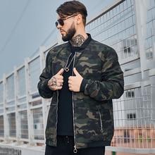 Hip Hop Street Wear Denim Jacket Men Fashion Camouflage Large Size