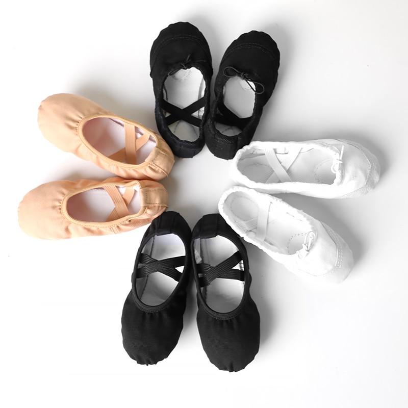 Boys Men Ballet Dance Shoes Adult Soft Canvas Practice Dance Shoes Leather Sole Ballerina Shoes For Ballet