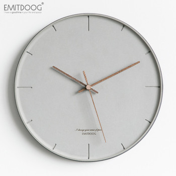 Simple Nordic Wall Clock Chinese Clock Modern Design Silent Grey Wall Clock Living Room Reloj Pared Home Decoration AA50ZB