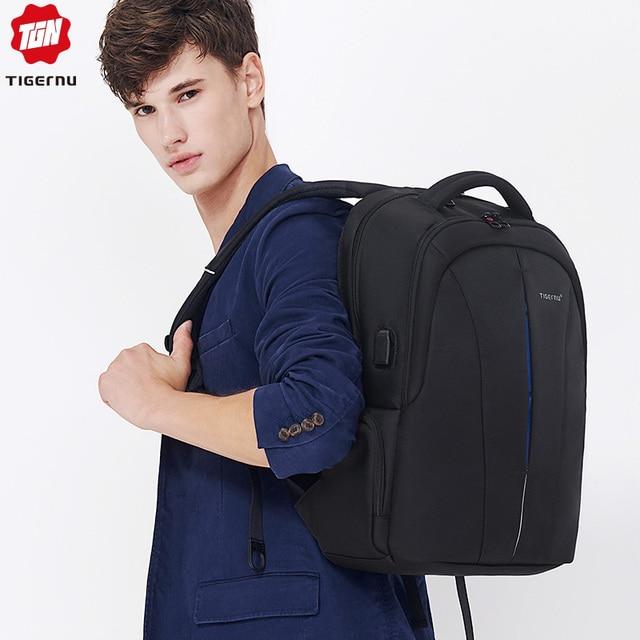 Tigernu Splashproof 15.6inch Laptop Backpack NO Key TSA Anti Theft Men Backpack Travel Teenage Backpack bag male bagpack mochila 5