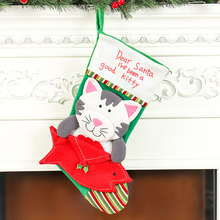Christmas Stockings Dog cat envelope pet Hanging Ornament Decorations For Home Party Natural Professional 2019 New S16