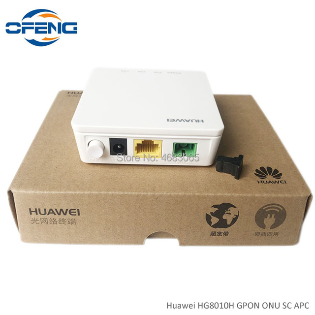 30PCS brand new HUAWEI HG8010H ONU GPON ont 1GE Port SC APC Firmware Optical communication equipment English software ,NO BOX