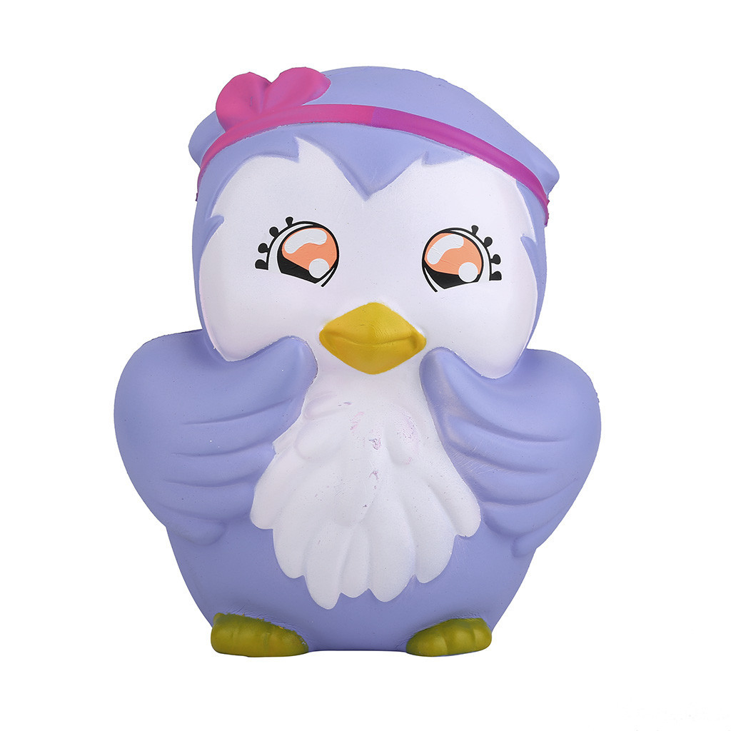 Kawaii Cartoon Owl Slow Rising Stress Relief Toy Eliminate Antistress Finger Pets Toy Fun Toys For Adults Anti Stress #C
