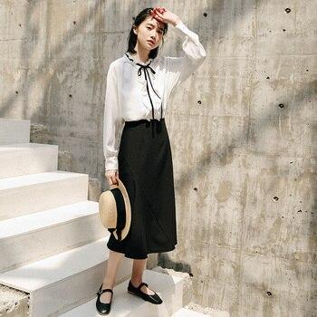 2020 Season Irregular Umbrella Pendulum Half-body Skirt Girls Long Han Fan Zhang Ulzzang Student Longuette Fashion 5