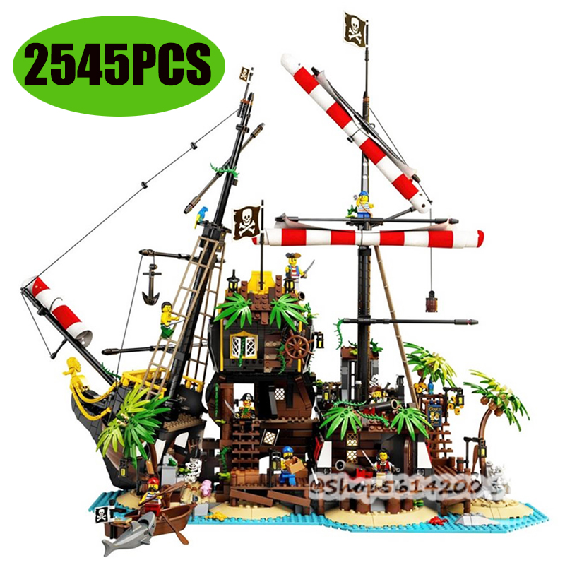 21322 New Ideas Lepining Pirates of Barracuda Bay 21322 Ship Blocks Bricks Lepinblocks Blocks Toys Kids Birthday Gift
