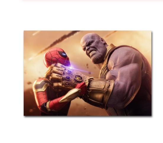 Современная Настенная живопись Мстители персонаж эндшпиль Железный человек Тор Капитан Америка постеры картина холст домашний декор - Цвет: Красный