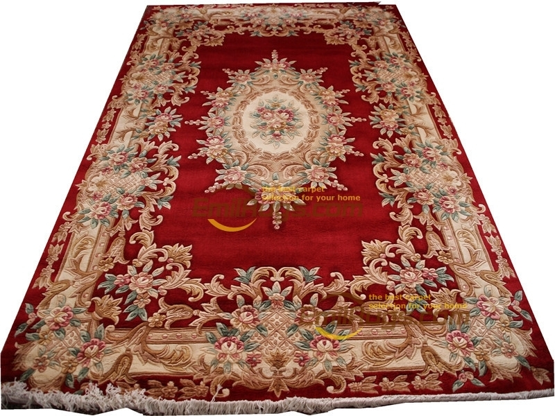 Chinese Wool Carpets Wool French Carpet  About Hand-knotted Thick Plush Savonnerie Rug  6.56' X 9.84'