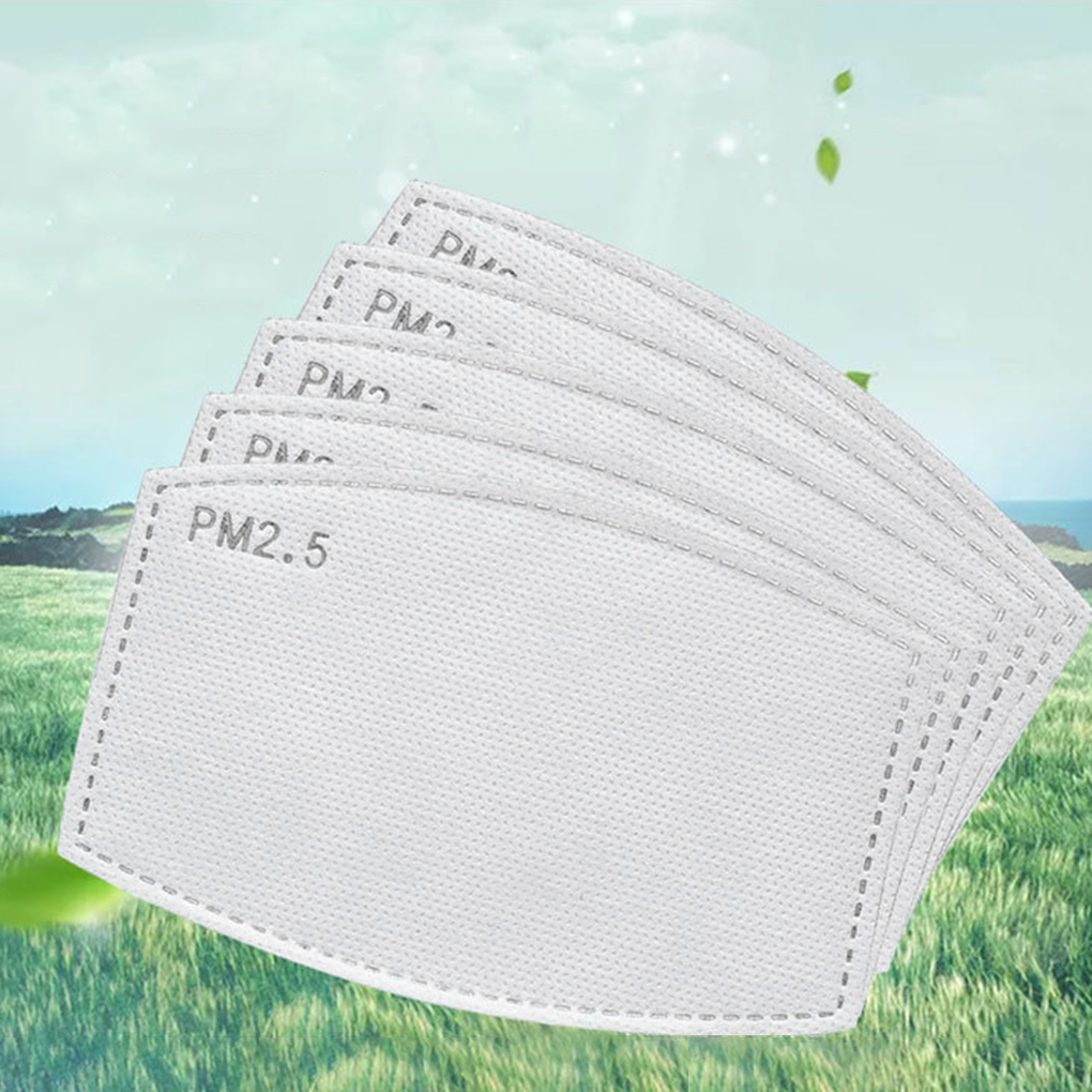 10/20/50/100pcs PM2.5 Mask Filter Paper For Adults Children Activated Carbon Mask Filter Gasket Replacement Face Cover Accessory