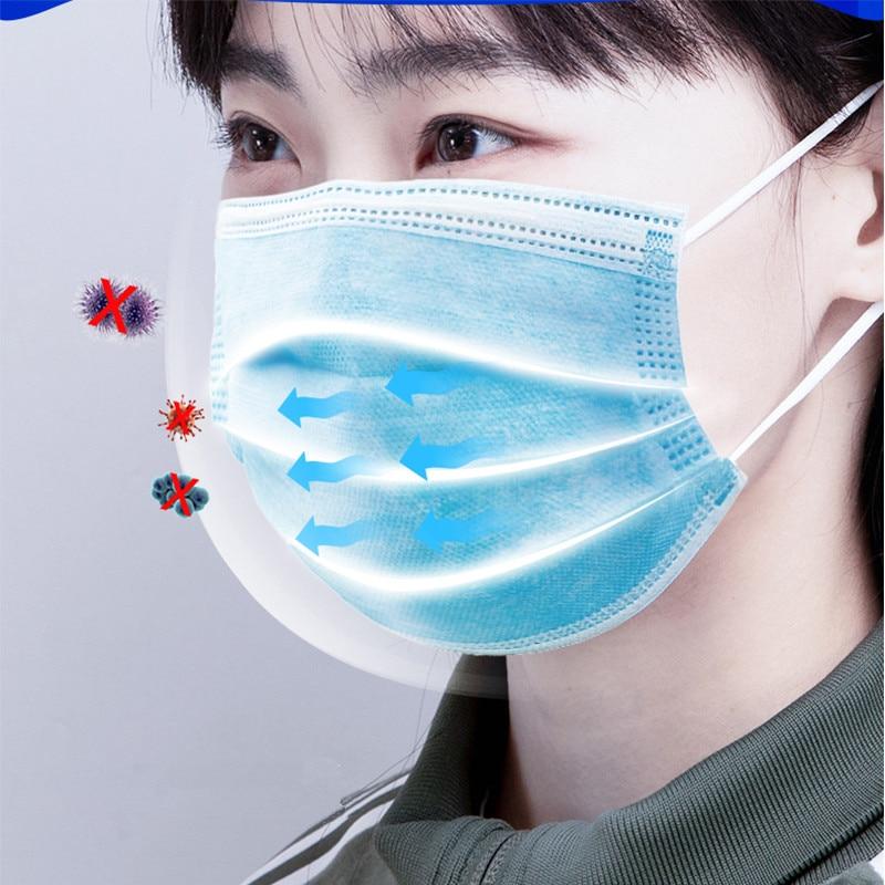50Pcs-100Pcs-3-Layer-Medical-Masks-Men-Women-Anti-Dust-Mask-Antibacterial-Protection-Sterile-Adult-Mask