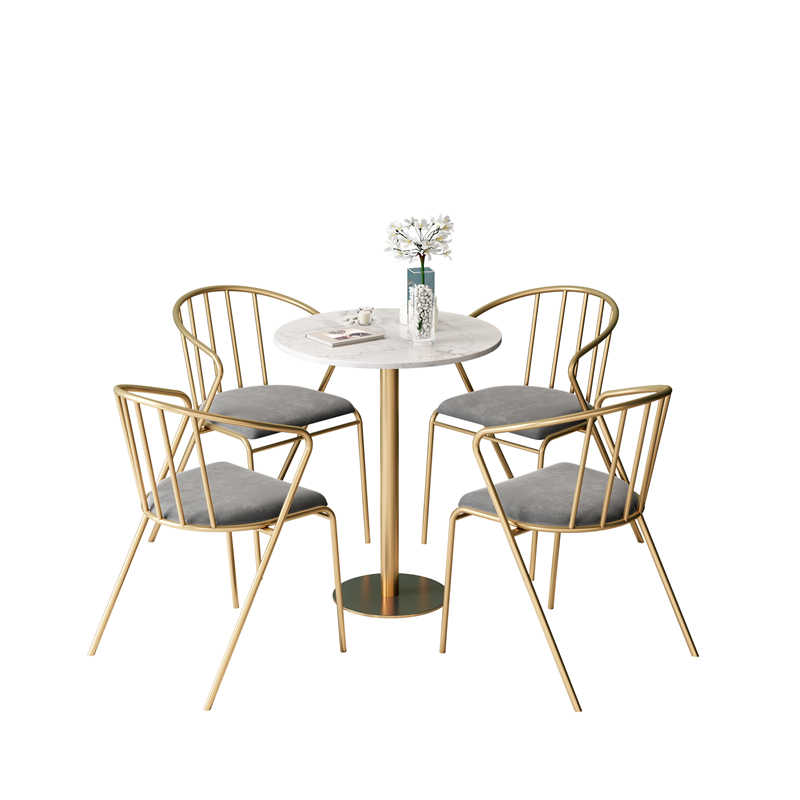 Tea Shop Table And Chair Combination Snacks Dessert Shop Western Restaurant Dining Cafe Creative Wrought Iron Table And Chairs