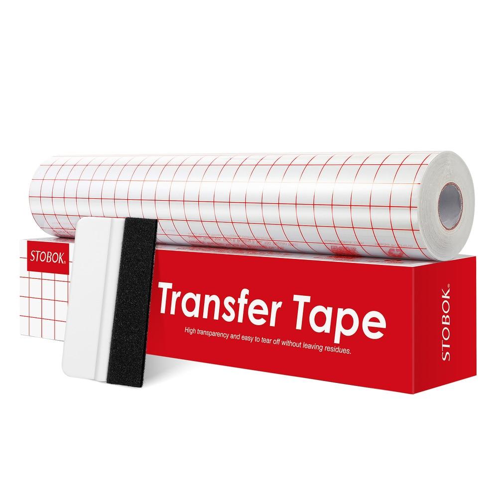 3 рулона переводной ленты STOBOK, 30x500 см, прозрачная виниловая переводная бумага с умеренной вязкостью, легко разрезаемая 5 мил клейкая перевод...