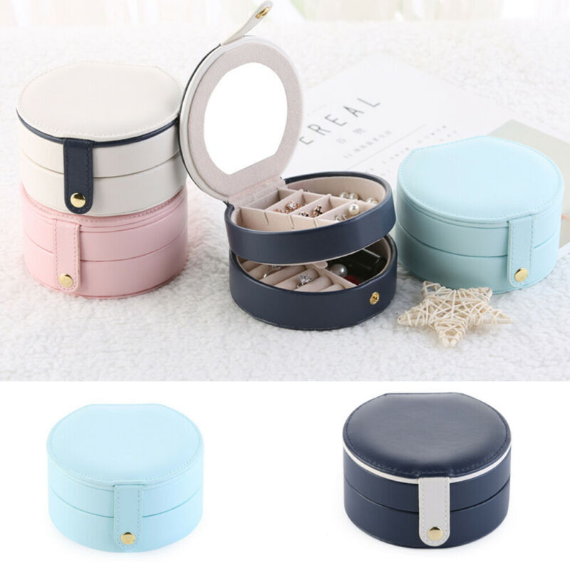HighQuality Jewelry Organizer Storage Box Leather Holder Earrings Ring Case Necklace Protable Jewel Packaging Travel Jewelry Box