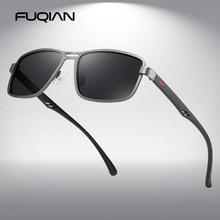 FUQIAN Luxus Polarisierte Sonnenbrille Männer 2020 Rechteck Metall Rahmen Sonnenbrille Mann Mode Männlichen Gläser Für Fahren UV400